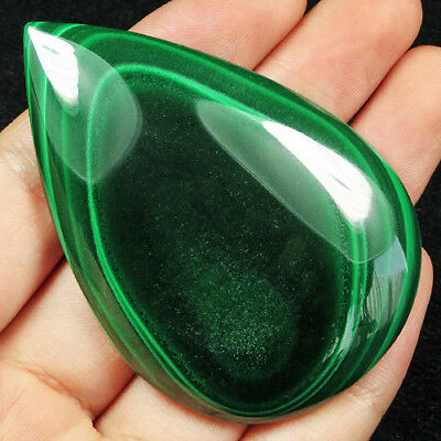 225CT 100% Natural Rarely seen Bull's Eye Green Malachite Cab Pendant SMA393