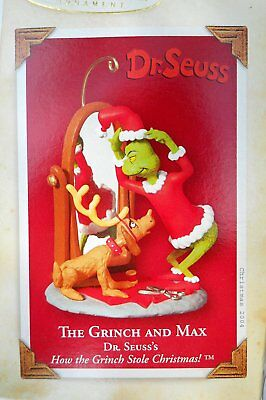 The Grinch and Max Dr.Seuss Hallmark