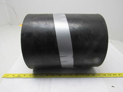 "4 Ply Woven Back Smooth Top Black Conveyor Belt 12""x18'x0.2175"""