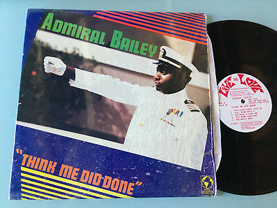 LP   UK 1987 MINT  Admiral Bailey ‎– Think Me Did Done Label: Live And Love ‎– L