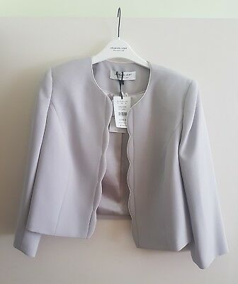 Jacques Vert Scallop Jacket Size 10 Mother of the Bride Wedding Smart RRP £149