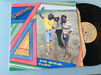LP   USA 1987 MINT  Culture ‎– Two Sevens Clash Label: Shanachie ‎– 44001 Format