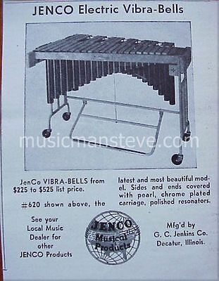 JENCO ELECTRIC VIBRA-BELLS AD 1946 Shows the Vibra-Bells + price at the time..