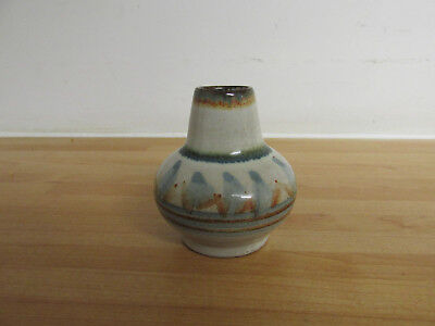 Vintage Studio Pottery Small Decorative Vase With Potters Mark