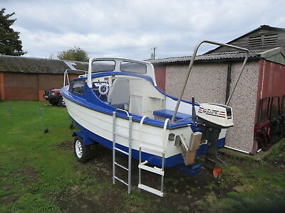 """Fishing Boat Mayland 16' 6"""" With 15hp Outboard & Trailer"""