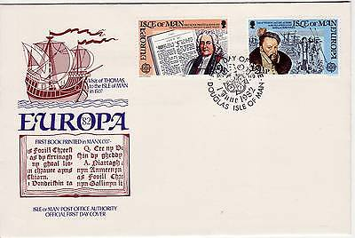 GB Stamps First Day Cover IOM Europa Historic Events,book etc SHS CEPT logo 1982