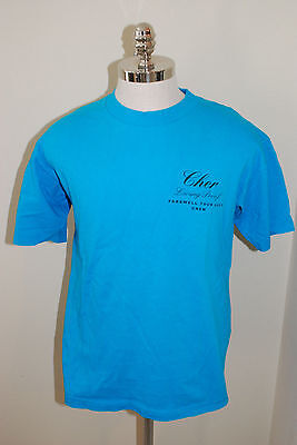 Cher  Living Proof Farewell Tour 2002 RARE CREW SHIRT TURQUOISE Size XL