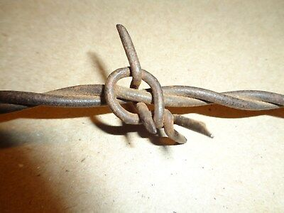 (588B) Antique Barbed Wire, REYNOLDS NECKTIE AROUND 2 LINES 1876~Farm tools