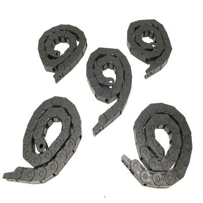 """(Lot of 5) Igus 14.1.038 E-Chain Wire/Hose/Cable Carrier 32.5"""" L x 1"""" H w/Ends"""