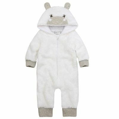 Babytown Snuggle Soft Lamb All in One White