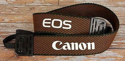 Canon EOS Chocolate Brown woven Wide Camera strap for film or digital SLR
