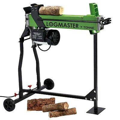 7 Ton Hydraulic Log Splitter & Stand Electric Wood Timber Cutter Logmaster New