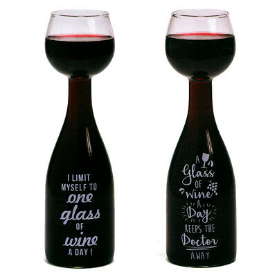 Wine Bottle Glass Large Novelty Full 75cl Bottle of Wine Drinking Party Gift