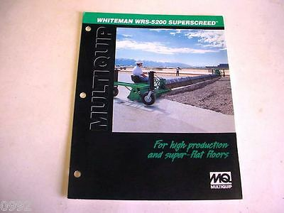 Whiteman WRS-5200 Superscreed, 2000, 6 Page, Brochure                #