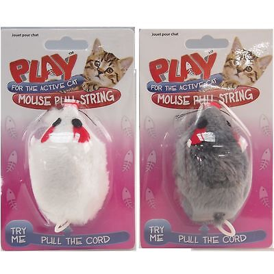 Pull String Cat Mouse Toy Play Pet Vibrating Moving Mouse Fun Kitten Playful