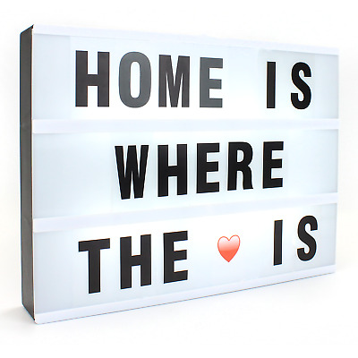 A4 Cinematic Lightbox with 170 Letters + Emojis & Free USB cable Green House