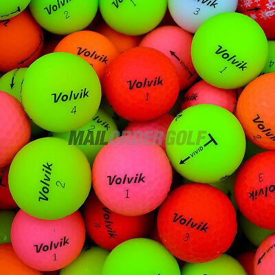12 Volvik Vivid Optic Lake Golf Balls PEARL/A Grade Premium Quality Lakeballs