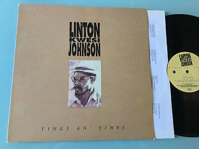 LP   Linton Kwesi Johnson ‎– Tings An' Times