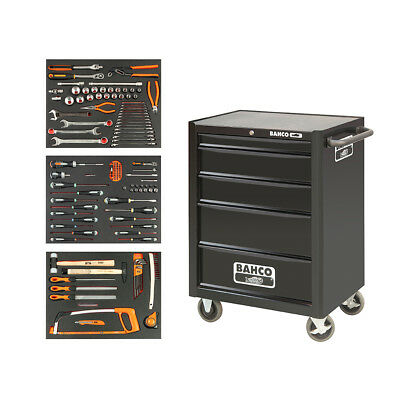 Bahco 5 Drawer Tool Trolley With Inlays and Tools