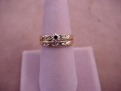 10K Solid Yellow Gold Ladies Wedding Ring for Scrap 2.9 grams