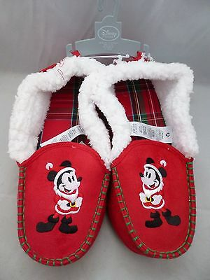 New with Tags - Disney Store Christmas Mickey Mouse Slippers UK Adult Size 8 - 9