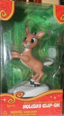 RUDOLPH THE RED NOSED REINDEER rudolph ornament holiday clip-on