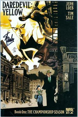 Daredevil Yellow #1 Df Dynamic Forces Signed Stan Lee Coa Ltd 30 Marvel Netflix