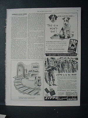 1943 Zippo Lighter WW2 guards POWs in the War Rare Vintage Print Ad 10891
