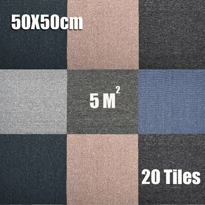 20 tiles Carpet Tiles Heavy Duty 5m2 Home Shop Office Reception Retail Flooring