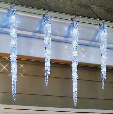 20 led hanging icicle christmas lights 9 outdoor twinkling decoration