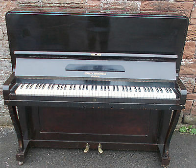 VINTAGE Piano By STANLEY BRINSMEAD London UPRIGHT Overstrung