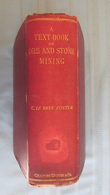 1894 Ore & Stone Mining Text Book-Ore Cars-Mine Lights-Underground Miners Work