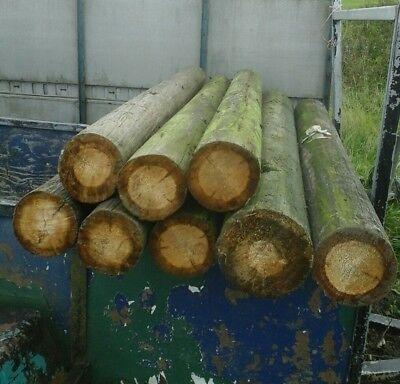 Telegraph Pole 7 Foot Pieces Ideal Gate / Fence Posts Etc, Sold Single, See Pics