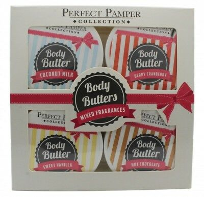 Perfect Pamper Gift Set 4X 50Ml Body Butter. New. Free Shipping