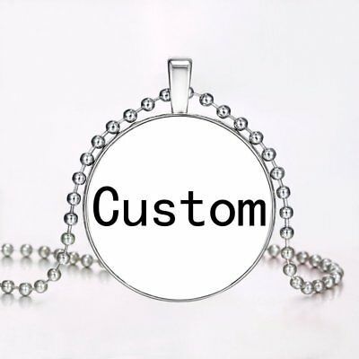 Stainless Steel Personalized Engraved DIY Custom Photo Pendant Necklace Jewelry