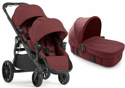 Baby Jogger City Select Lux Twin Double Stroller Port w/ Second Seat & Bassinet