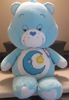 "Care Bears BEDTIME Cuddle Pillow LARGE 30""  + TAGS Bear"