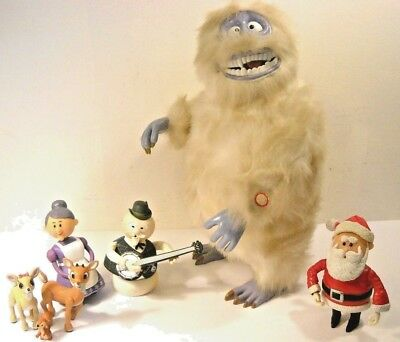 "15"" Bumble Bat.op. Abominable Snowman 1992 & Six Rudolph The Red Nosed Figures"