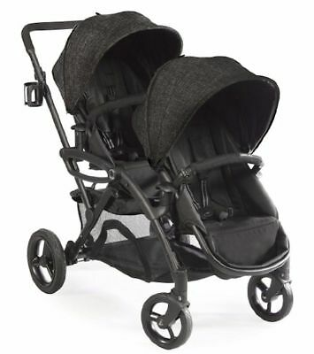 2Contours Options Elite Twin Tandem Double Baby Stroller Carbon NEW  2018