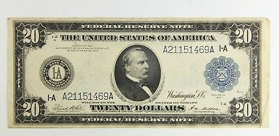 1914 $20 Large Federal Reserve Note Boston