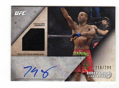 BOBBY GREEN 2015 TOPPS UFC KNOCKOUT AUTOGRAPH RELICS #ed 216 /299