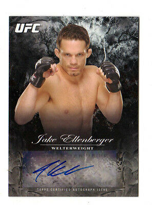 JAKE ELLENBERGER 2014 TOPPS UFC BLOODLINES FIGHTER AUTOGRAPHS #ed 140 /225