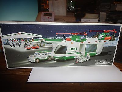 Hess 2001 Helicopter With Motorcycle And Cruiser, Free Shipping In The U.s.