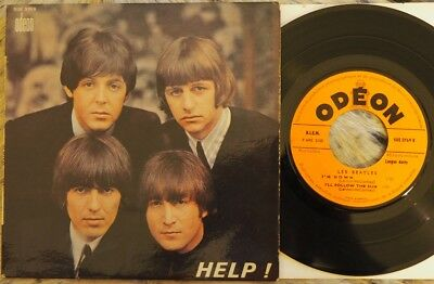 "The Beatles - ""help"" Ep (1965, France, Odeon 7"" Ep, Ex Cond, Pic)"