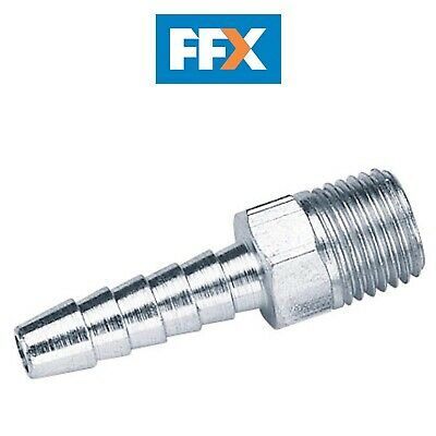 "Draper A5656 PACKED 1/4"" BSP Taper 1/4"" Bore PCL Male Screw Tailpiece 5pk"