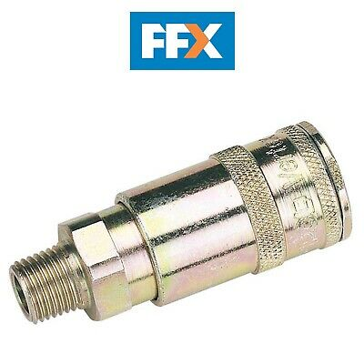 "DRAPER 51385 1/4"" BSP Taper Male Thread Vertex Air Coupling (Sold Loose)"