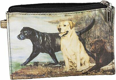 New Labrador Retriever Dog Zippered Handy Pouch Ruth Maystead Coin Purse 3 Dogs