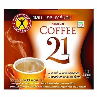 Naturegift Instant Coffee 21 Weight Loss Slimming Plus L-carnitine 10 sachets