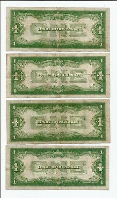 1934 $1 Funny Back Silver Certificates Lot