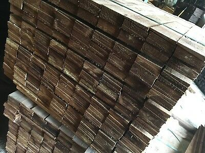 PACK 10 NEW TIMBER FEATHER EDGE TREATED TANELISED FENCING 5ft (1500mm) 50p EACH!